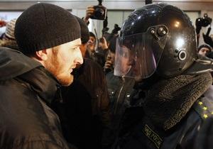 Фотогалерея: На ножах. В Москве и Петербурге задержаны сотни кавказцев и националистов
