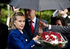 Клинтон в Польше отдала дань уважения погибшим в Катыньской трагедии
