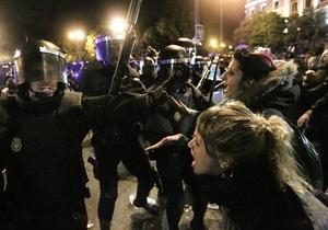 При разгоне демонстрации в Мадриде ранения получили 12 человек