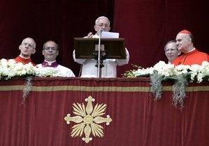 Новый Папа - Франциск - Пасха: Папа Римский Франциск поздравил католиков с Пасхой