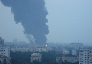 Экологи: Из-за пожара на складах Эльдорадо в воздух над Киевом попал диоксин