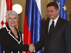 Словения разрешила Хорватии вести переговоры о вступлении в ЕС