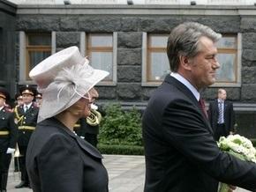 У стен Секретариата Ющенко встретил президента Австрии