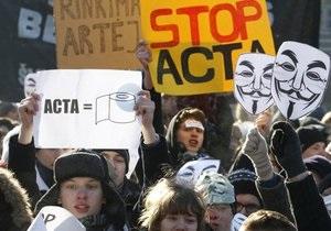 В Эстонии прошли митинги протеста против антипиратского договора