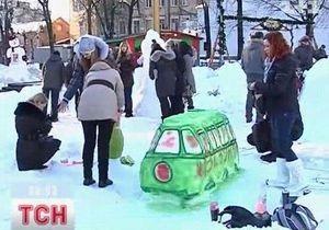 Парад снеговиков в Виннице