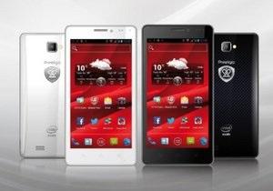 Prestigio выпустила смартфон на платформе Intel Atom
