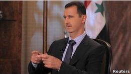Президент Асад не чувствует вины за гибель демонстрантов