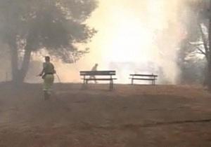 В Италии бушуют лесные пожары, огонь добрался до Рима