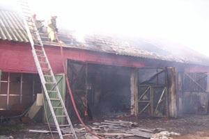 В Полтавской области сгорела СТО