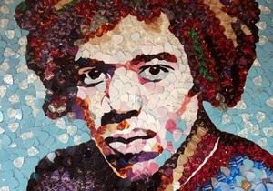 Британский художник создал портрет Джими Хендрикса из медиаторов