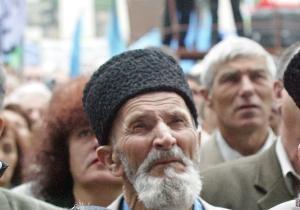 Крымские татары обвинили охрану Януковича в разгоне акции протеста под АП