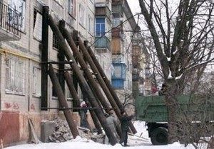 Киевские власти отремонтируют дом, частично разрушившийся из-за взрыва в 2005 году