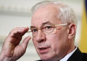 Азаров пообещал поднять вопрос доступа Украины к российской ГТС