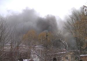 На Крюковском вагоностроительном заводе начался пожар