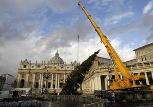Украина обеспечит Ватикан рождественскими елками