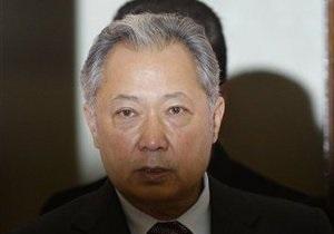 Бакиев вновь призвал ОДКБ повлиять на ситуацию в Кыргызстане