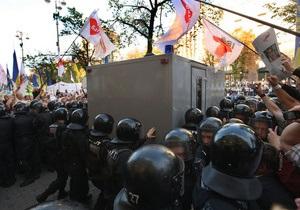 Автозак Тимошенко не смог завестись. Его чинили 20 минут