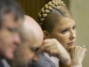 Тимошенко обвинила Ющенко в провале антикризисных законопроектов