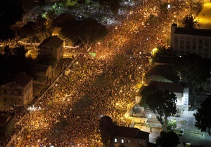 Волна демонстраций охватила весь Израиль