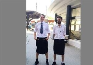 Мужчины-машинисты в Швеции перешли на юбки