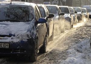 Вслед за Западной Украиной проблемы на дорогах начались в восточных областях