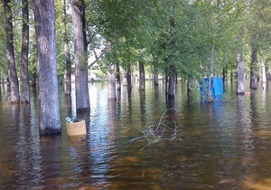 новости Киева - Гидропарк - потоп - наводнение - паводок - В Киеве затопило Гидропарк