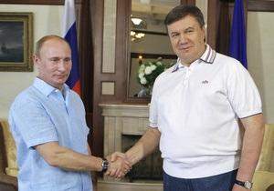 Журналисты выяснили, чем Янукович угощал Путина в Крыму
