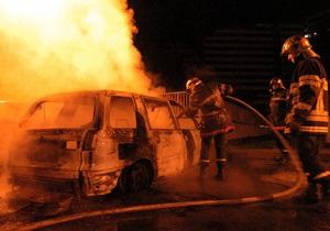 Во Франции на Новый год сгорели более тысячи автомобилей
