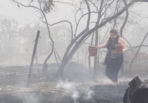 Экологи предупреждают о возможности дальнейших возгораний торфяников в Киевской области