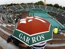 Дождь мешает Roland Garros