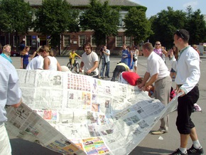 В Тернополе склеили десятиметровую газету
