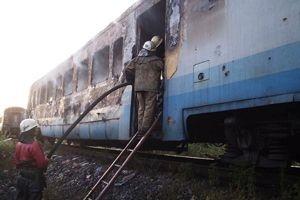В Луганской области во время движения поезда загорелся вагон с пассажирами