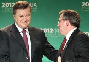 Янукович отправляется в Польшу