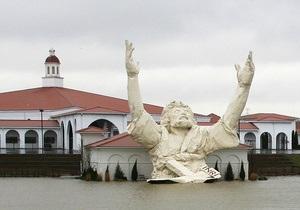 Фотогалерея: В столпе огненном. Молния уничтожила гигантскую статую Христа в Огайо