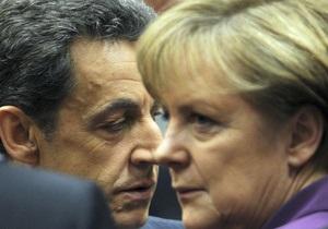 Меркель и Саркози сегодня обсудят антикризисные меры