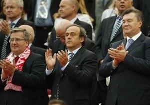 Янукович посмотрел церемонию открытия Евро-2012