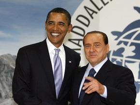 Берлускони и Обама рассказали друг другу о личной жизни