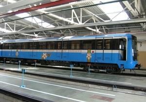 В киевском метро запустили поезд, оборудованный видеокамерами