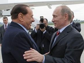 Путин надеется, что Берлускони поможет наладить отношения между Россией и ЕС
