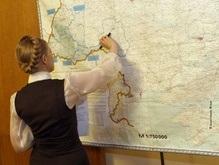 Тимошенко облетела на вертолете пострадавшие районы