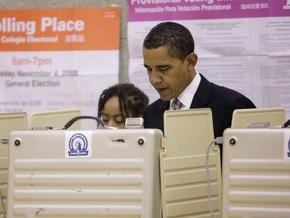 Обама проголосовал с использованием оптического сканера