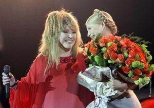 СМИ: Пугачева обиделась на Тимошенко из-за песни Русь