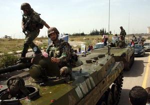 В Сирии во время осады города Эр-Растан правительственными войсками погибли 15 человек