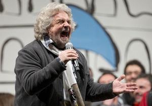 Политический кризис в Италии: коммунист Берсани против клоуна Грилло