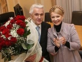 Тимошенко встретилась с Литвиным и заверила, что Рада примет бюджет-2009 в этом году