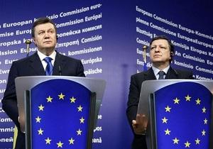 Янукович поговорил с Баррозу о прогрессе Украины на пути в ЕС