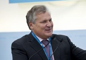 Экс-президент Польши: Украина - это очень важный  кирпичик  в здании европейского дома