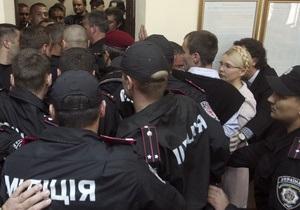 МВД: Милиция в Печерском суде действовала законно