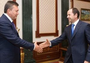 Янукович обсудил с Тигипко проведение экономических реформ