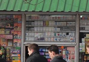 В центре Киева демонтировали пять киосков по продаже прессы и сигарет